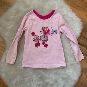 Children's Place girls poodle long sleeve shirt 4T